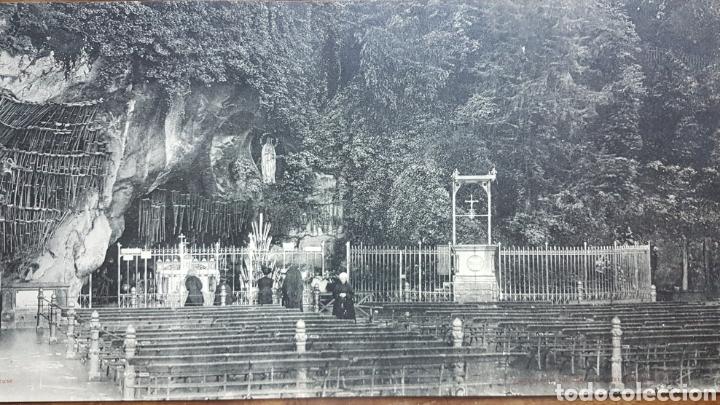 Fotografía antigua: Gran fototipo Lourdes Gruta 1924 w - Foto 3 - 197838818