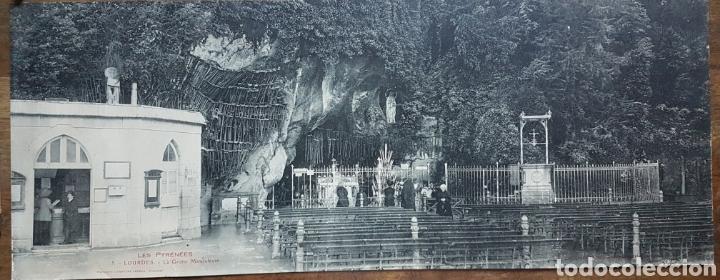GRAN FOTOTIPO LOURDES GRUTA 1924 W (Fotografía Antigua - Estereoscópicas)