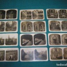 Fotografía antigua: 12 FOTOS ESTEROSCÓPICAS DE GERONA. Lote 197972693