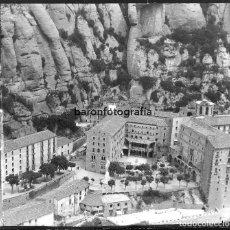 Fotografía antigua: MONTSERRAT, MONASTERIO. FINALES S.XIX. CRISTAL NEGATIVO ESTEREO 9X18 CM.. Lote 198051770