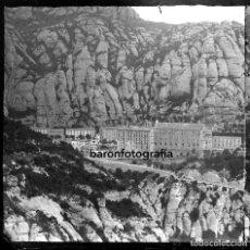 Fotografía antigua: MONTSERRAT, MONASTERIO. AÑO 1904. CRISTAL NEGATIVO ESTEREO 9X18 CM.. Lote 198052946