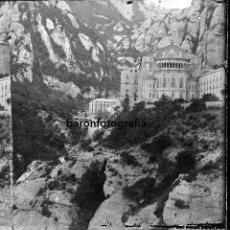 Fotografía antigua: MONTSERRAT, MONASTERIO. AÑO 1904. CRISTAL NEGATIVO ESTEREO 9X18 CM.. Lote 198053360