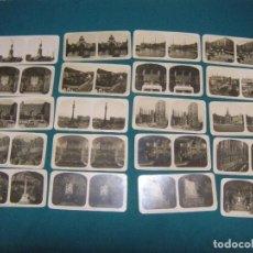 Fotografía antigua: 20 FOTOS ESTEROSCÓPICAS DE BARCELONA. Lote 198059405