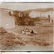 Fotografía antigua: ISLAS BALEARES PROBABLEMENTE, 1915'S. CRISTAL POSITIVO 6X13 CM.. Lote 198084786