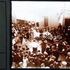 Fotografía antigua: MONTCADA I REIXACH, SARDANAS. 1920 APROX. CRISTAL POSITIVO 10X4 CM.. Lote 198534298
