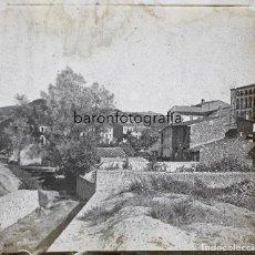 Fotografía antigua: PUEBLO POR IDENTIFICAR, 1915 APROX. CRISTAL POSITIVO 6X13 CM.. Lote 199154606