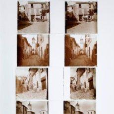 Fotografía antigua: CATALUÑA, PUEBLO POR IDENTIFICAR, 1915 APROX. LOTE DE 5 CRISTALES POSITIVOS ESTEREO 10X4 CM.. Lote 199185020