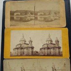 Fotografía antigua: LOTE DE 5 FOTOGRAFÍAS ESTEREOSCÓPICAS ANTIGUAS. Lote 199193065