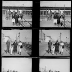 Fotografía antigua: CATALUÑA, ESTACIÓN DE TREN FLORIDA PLAYA, 1920'S. 3 CRISTALES NEGATIVOS ESTEREO 4X10 CM.. Lote 199193387