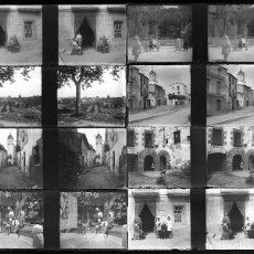 Fotografía antigua: CATALUÑA, PUEBLO POR IDENTIFICAR, 1915 APROX. LOTE DE 10 CRISTALES NEGATIVOS ESTEREO 4X10 CM.. Lote 199195727