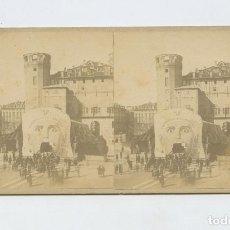Fotografía antigua: ITALIA - TURÍN - CARNAVAL, ALBÚMINA 8,5X17,5 CM. . Lote 199256551