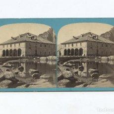 Fotografía antigua: SUISSE - ROUTE DU ST. GOTHARDT. SUISSE - FOTO: A. BRAUN. ALBÚMINA 8,5X17,5 CM.. Lote 199256723