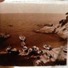 Fotografía antigua: PLATJA D'ARO (GIRONA) LA COVA - 1930'S - NEGATIVO DE VIDRIO 4,5 X 10,5 CM (APROX). Lote 202314537