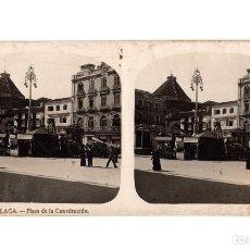 Fotografia antica: MÁLAGA.- PLAZA DE LA CONSTITUCIÓN.. Lote 205582558