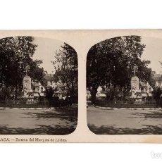 Fotografia antiga: MÁLAGA.- ESTATUA DEL MARQUÉS DE LARIOS.. Lote 205583905