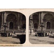 Fotografia antiga: MÁLAGA.- PUERTA PRINCIPAL DE LA CATEDRAL.. Lote 205585382