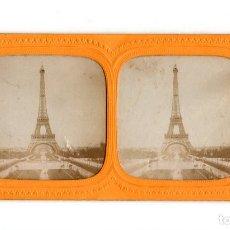 Fotografía antigua: PARIS.- TORRE EIFFEL. COLOR.. Lote 205659050