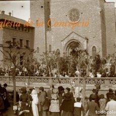 Fotografía antigua: BARCELONA - ESGLÉSIA DE LA CONCEPCIÓ - 1910'S - NEGATIU DE VIDRE. Lote 205782825