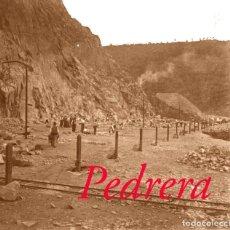 Fotografía antigua: CALDES DE MONTBUI - PEDRERA - 1920'S - NEGATIU DE VIDRE. Lote 205799443