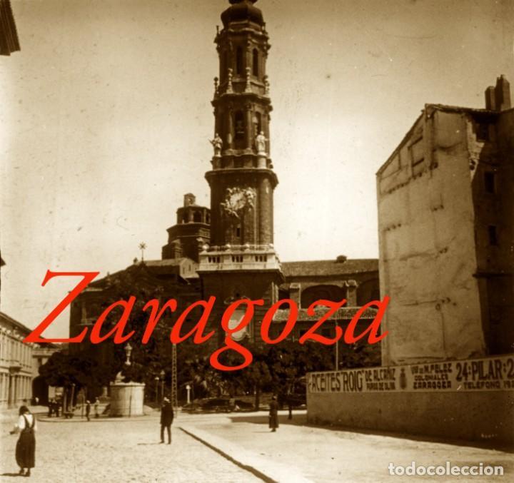 ZARAGOZA - CATEDRAL - 1910'S - 2 POSITIVOS DE VIDRIO (Fotografía Antigua - Estereoscópicas)
