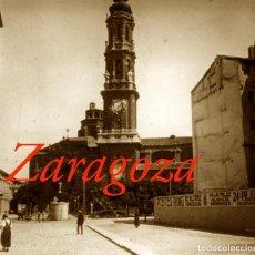 Fotografía antigua: ZARAGOZA - CATEDRAL - 1910'S - 2 POSITIVOS DE VIDRIO. Lote 206882446