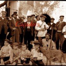Fotografía antigua: CAÇADORS - 1920'S - NEGATIU D'ACETAT. Lote 206899055