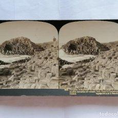 Fotografía antigua: FOTOGRAFIA ESTEREOSCOPICA, EL GRAN HONEYCOMB, PASAJE DE LOS GOGANTES, IRLANDA, AÑO 1903, RARA. Lote 206920398