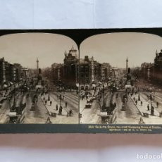 Fotografía antigua: FOTOGRAFIA ESTEREOSCOPICA, SACKVILLE STREET, PRINCIPAL CALLE COMERCIAL DE DUBLÍN, AÑO 1903, RARA. Lote 206921658