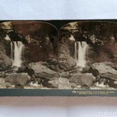 Fotografía antigua: FOTOGRAFIA ESTEREOSCOPICA, INVERSNAID FALIS, LOCH LOMOND, SCORLAND, AÑO 1903. Lote 206922196