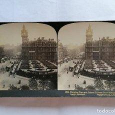 Fotografía antigua: FOTOGRAFIA ESTEREOSCOPICA, WATERLOO PLACE AND CALTON HILL FRON SCOTT MONUMENT, EDINBURGH, AÑO 1903. Lote 206922767