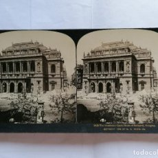 Fotografía antigua: FOTOGRAFIA ESTEREOSCOPICA, EL HERMOSO TEATRO DE LA OPERA DE BUDAPEST, HUNGRIA, AÑO 1903. Lote 206922912