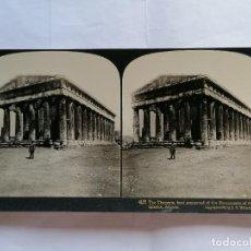 Fotografía antigua: FOTOGRAFIA ESTEREOSCOPICA, EL TESEO, MONUMENTO MEJOR CONSERVADO DE LA ANTIGUA GRECIA, AÑO 1903, RARA. Lote 206923306