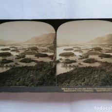 Fotografía antigua: FOTOGRAFIA ESTEREOSCOPICA, LAGO HERMOSO DE INGLATERRA, AÑO 1903, RARA. Lote 206923828