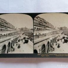 Fotografía antigua: FOTOGRAFIA ESTEREOSCOPICA, RAMPA QUE CONDUCE A LA CALLE DE LA REPUBLICA EN ARGEL, AÑO 1903, RARA. Lote 206924032