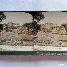 Fotografía antigua: FOTOGRAFIA ESTEREOSCOPICA, ABADÍA DE FURNESS, FUNDADA POR LA CISTERCIA, AÑO 1903, RARA. Lote 206924647