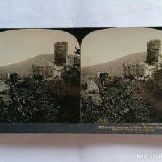 Fotografía antigua: FOTOGRAFIA ESTEREOSCOPICA, EL CASTILLO LAHNECK A ORILLAS DEL RIN, COBLENCE, ALEMANIA, AÑO 1903, RARA. Lote 206925326