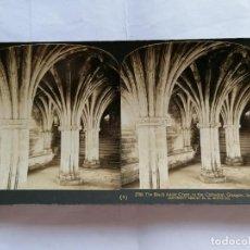 Fotografía antigua: FOTOGRAFIA ESTEREOSCOPICA, LA CRIPTA DE ADDER NEGRO, CATEDRAL, GLASGOW, ESCOCIA, AÑO 1903. Lote 206926393