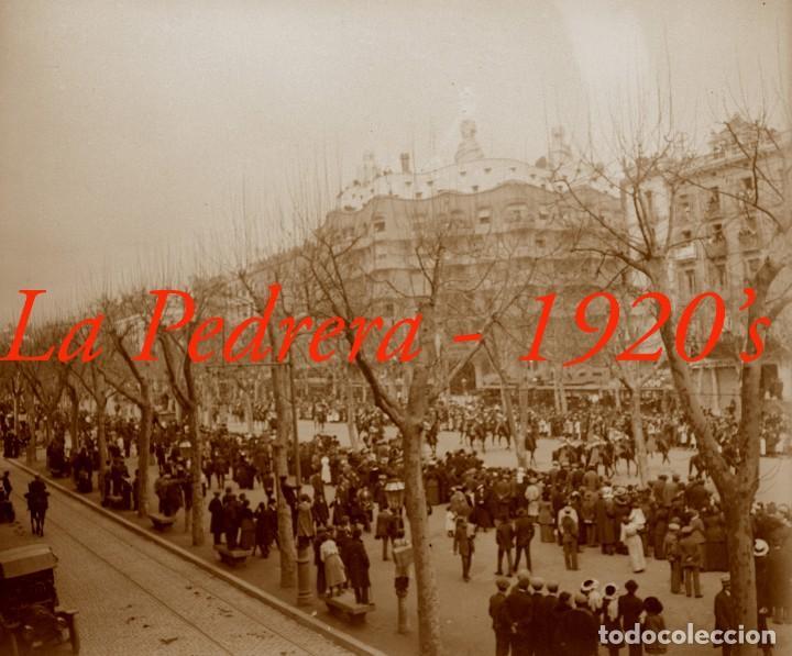 GAUDÍ - LA PEDRERA - 1920'S - NEGATIVO DE VIDRIO (Fotografía Antigua - Estereoscópicas)