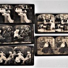 Fotografía antigua: LOTE 5 ESCENAS VARIADAS H. C. WHITE - PERFEC STEREOGRAPH EDITION DE LUXE AÑO 1903. Lote 207314595