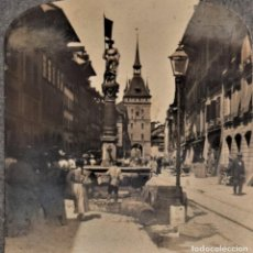 Fotografía antigua: 02906 STREET SCENE FOUNTAIN AND TOWER BERNA (SUIZA) AÑO 1907 - UNITED PHOTOGRAPHIC COMPANY N.Y.. Lote 207316087