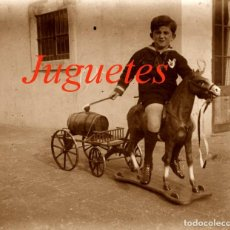 Fotografía antigua: JUGUETE - NIÑO - 1920'S - BARCELONA - NEGATIVO DE VIDRIO. Lote 209640325