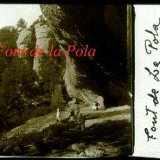 Fotografía antigua: FONT DE LA POLA - L'OBAC - SANT LLORENÇ DEL MUNT - POSITIU DE VIDRE - 1931. Lote 209653111