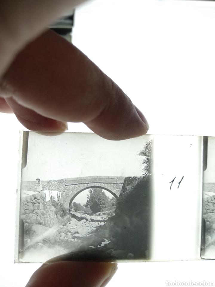 Fotografía antigua: Placa estereoscopica en positivo. Paraje a identificar 1920. - Foto 2 - 210156275