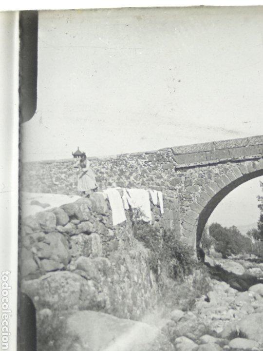 Fotografía antigua: Placa estereoscopica en positivo. Paraje a identificar 1920. - Foto 3 - 210156275