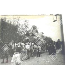 Fotografía antigua: PLACA ESTEREOSCOPICA EN POSITIVO CARNAVALES MADRID 1920. CUPIDO.. Lote 210210012