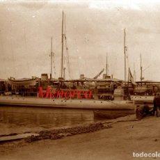 Fotografía antigua: MENORCA - PORT - 1900 - NEGATIU DE VIDRE. Lote 210248555