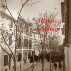 Fotografía antigua: MENORCA - MAHON - 1900 - NEGATIU DE VIDRE. Lote 210248613