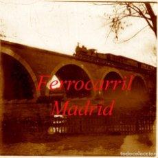 Fotografía antigua: FERROCARRIL - MADRID - 1920'S - POSITIVO DE VIDRIO. Lote 210344248