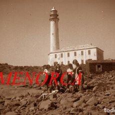 Fotografía antigua: MENORCA - FARO - 1940'S - NEGATIVO DE ACETATO. Lote 210397665