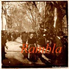 Fotografía antigua: BARCELONA - RAMBLA - 1910'S - POSITIVO DE VIDRIO. Lote 210587895